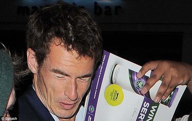 Ouch: Murray may be wondering if he is paying the price for his success
