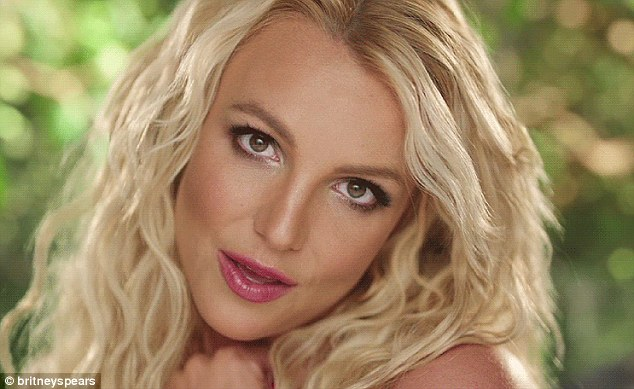 Natural beauty: A glowing Britney wears minimal make-up in the clip