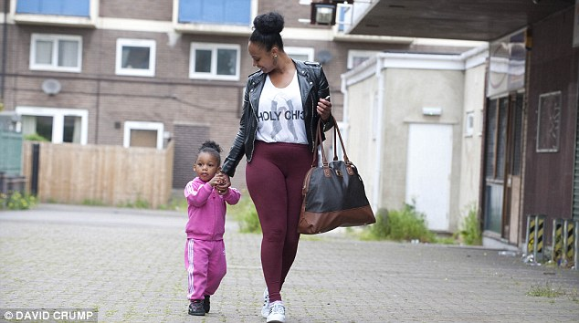 The norm: Nicole Coley with daughter Egipt is one of many single mothers in Ladywood