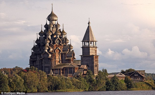 To this day, the fully-wooden buildings on the small island of Kizhi, serve as a Russian Orthodox church for the surround rural communities