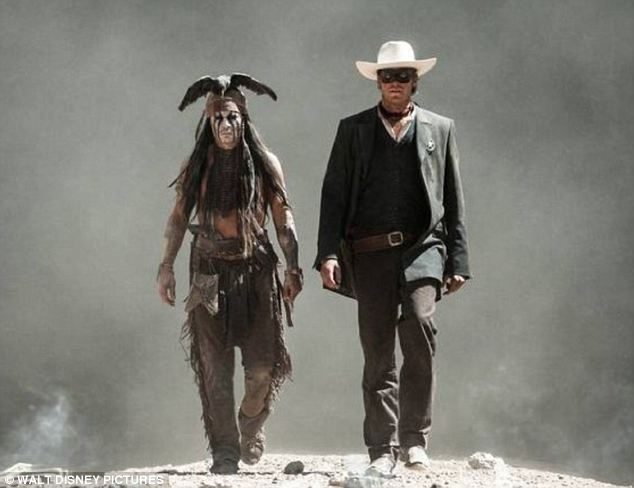 Investment: Johnny Depp researched Native American history for his role as Tonto, the Indian sidekick to the Lone Ranger, but that attention to detail hasn't helped in the box office as it is being deemed a flop
