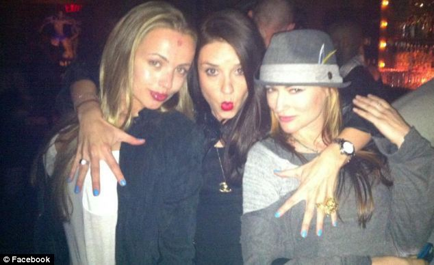 Club kids: TheSix co-founder Mariya Dekham (left), pictured with friends, has years of experience working in the nightlife industry