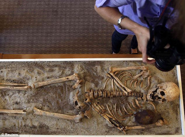 Eerie: It comes a year after archaeologists in Bulgaria claimed to have discovered two 'vampire' corpses