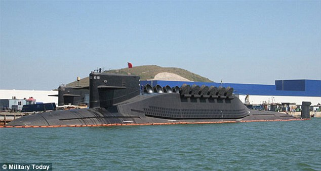 Military Build-Up: This is China's latest Jin class SLBM - which will be capable of carrying up to 12 missiles capable of striking the United States with a nuclear strike from within Chinese territorial waters