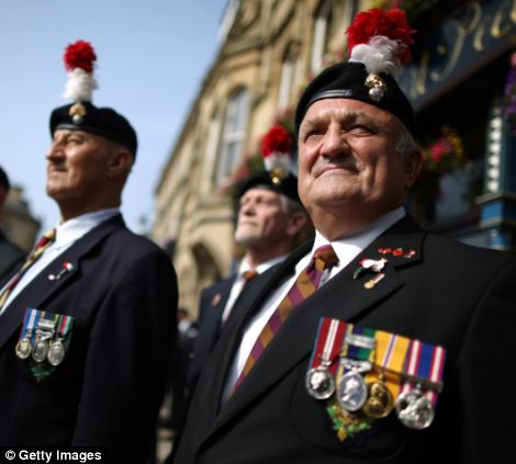 Veterans line the streets for Lee Rigby
