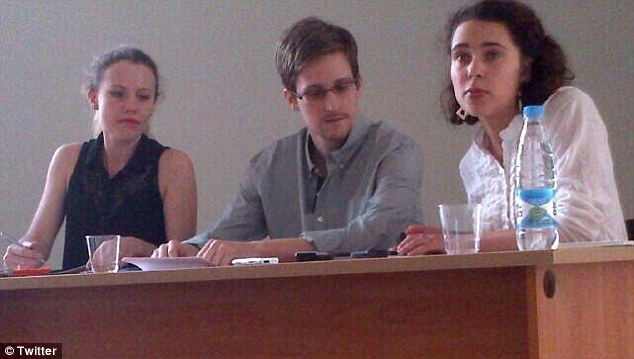 During the meeting Edward Snowden told human rights activists he plans to stay in Russia temporarily and then travel to South America for asylum