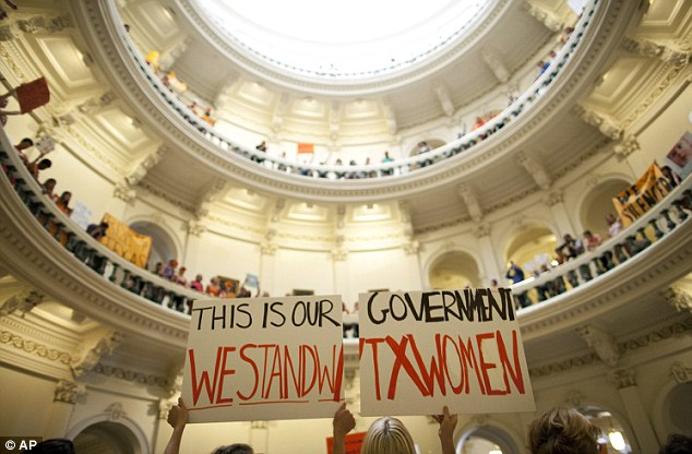 Rally: Abortion rights supporters gather in the State Capitol, in Austin, Texas