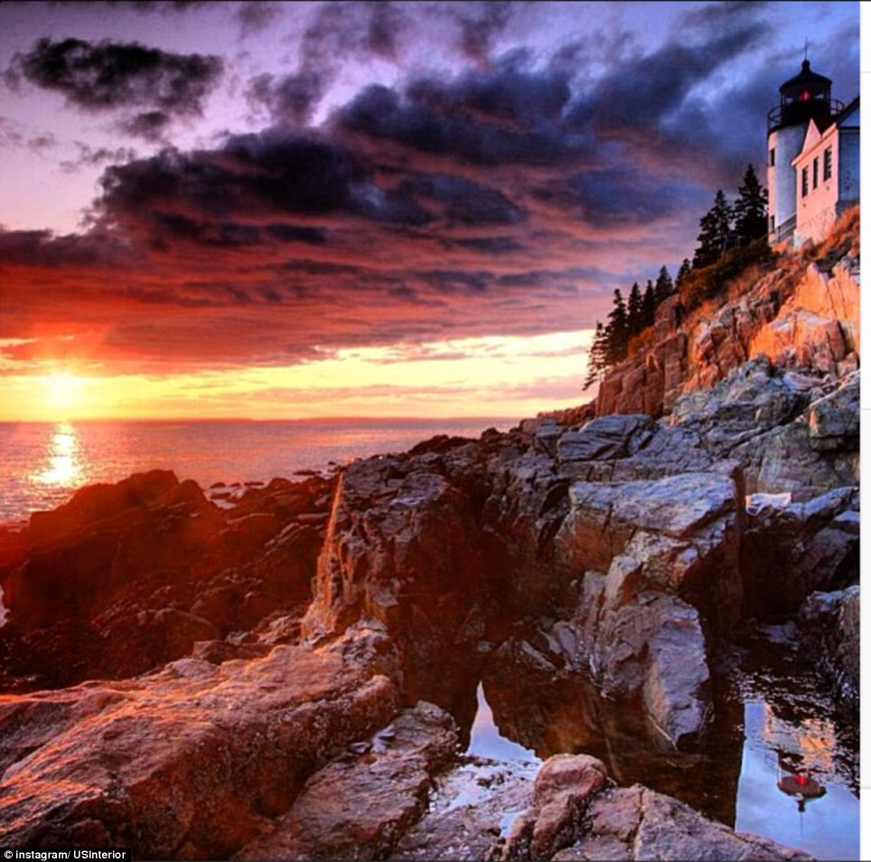 Maine: The rugged coast of Maine is home to the Acadia National Park