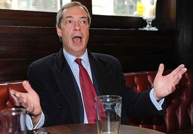Slur: Nigel Farage's UKIP party supporters are described as dangerous
