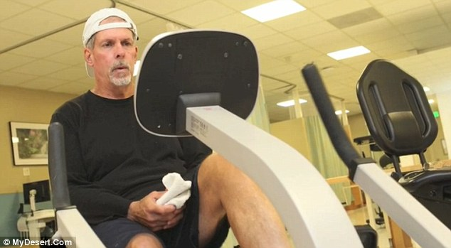 Relief: Michael Boatwright uses exercise as the only way to concentrate his mind and not think about his memory loss