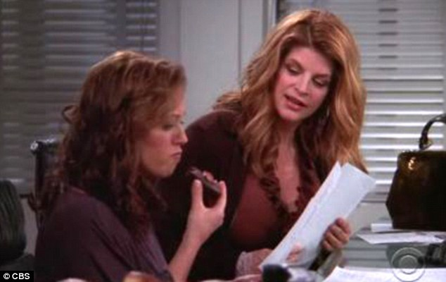 The way they were: Pictured together on an episode of King Of Queens, Kirstie and Leah have known each other for years