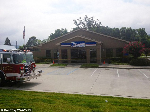 Gel leak: Officials at the local post office in Guntersville, Alabama, say the gel leaked from a package and had spread to between 12 and 15 others Thursday morning