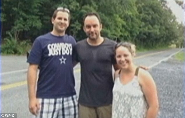 Pick Up A Rockstar: Emily Kraus and her boyfriend found Dave Matthews (center) waiting for a ride on the side of the road in Pennsylvania