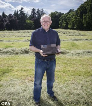 University of Birmingham professor Vince Gaffney, pictured, stands in front of the 10,000-year-old excavated lunar pits