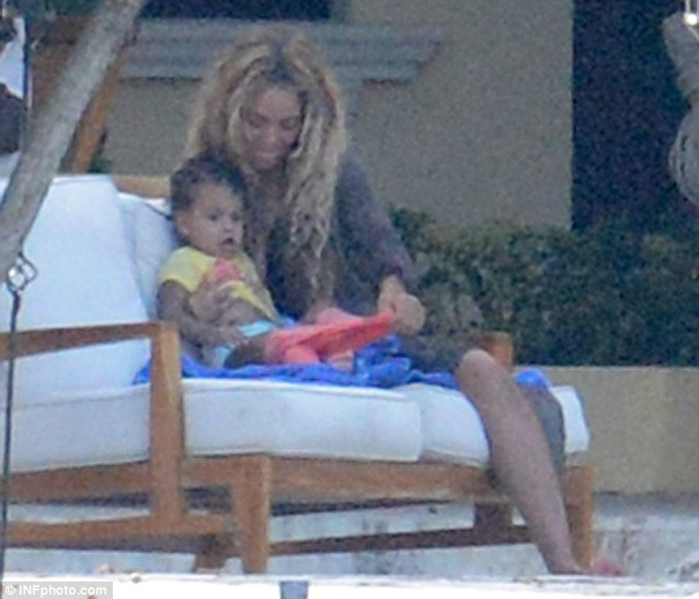 Mother-daughter time: Beyoncé spends time with Blue Ivy during a break from her world tour