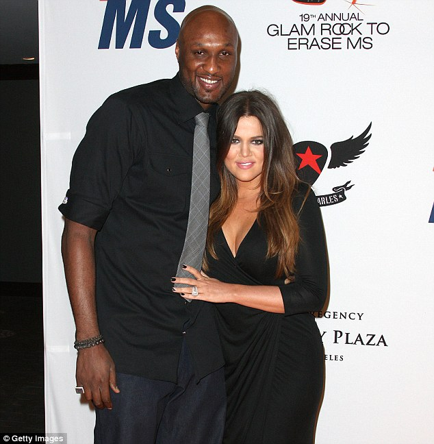 Still going strong: Sources close to Khloe and Lamar insist the couple are 'fine'