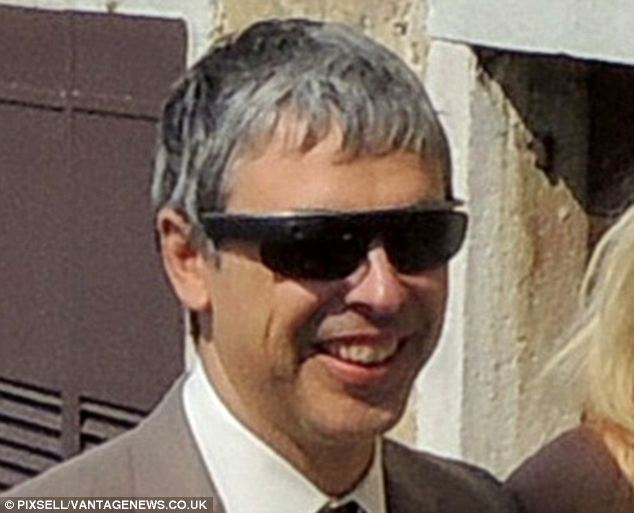 Romantic break: Larry Page and his wife Lucinda Southworth walk the cobbled streets of Motovun to his brother's wedding ceremony