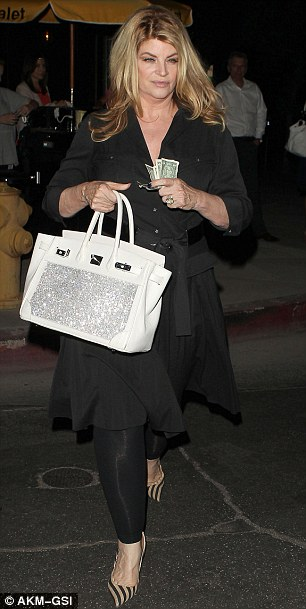 What's the story? Kirstie Alley - pictured on Monday night in Hollywood - has denied she's livid with Remini for her public defection