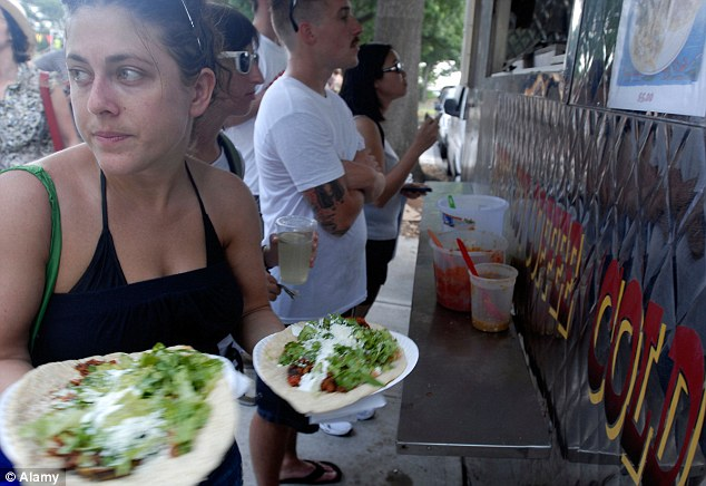 Vitamin T: Mexicans joke that their Vitamin T food, their tacos, tostadas and tamales, do them good... but they are laden with calories and hard to burn when leading a sedentary lifestyle