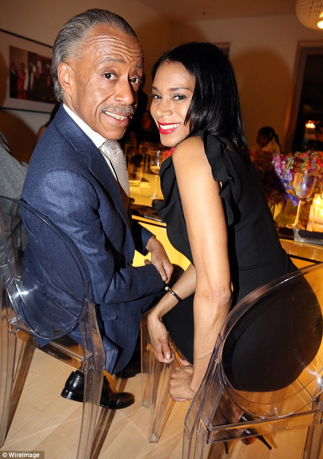 New couple: Sharpton and McShaw were pictured together in February this year