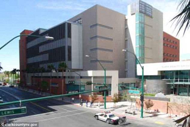 Jail: Rivera is being held in a Las Vegas prison before he is transferred to Fairfax County, Virginia