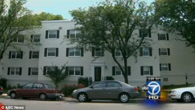 Apartment: Some of the assaults are believed to have taken place at this apartment block in Alexandria, Virginia, where Rivera last lived