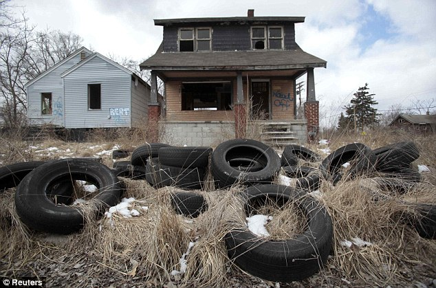 Desolate: The once-thriving city is struggling to convince residents to stay