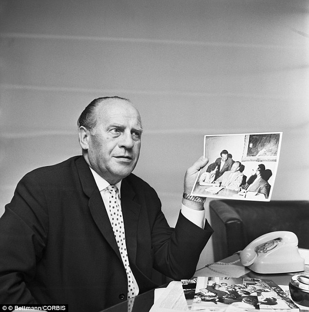 Hero: Oskar Schindler speaks about saving lives during the Holocaust in this 1963 photo