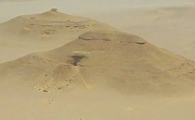 Unusual mounds of sand spotted by an American archaeologist on Google Earth last year might hide a pyramid larger than Giza.