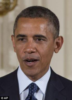 President Barack Obama speaks during a ceremony on July 15, 2013