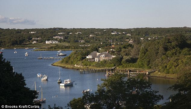 Luxury: Boats and summer homes on Menemsha Pond in Chilmark, MA, where the First Family are vacationing