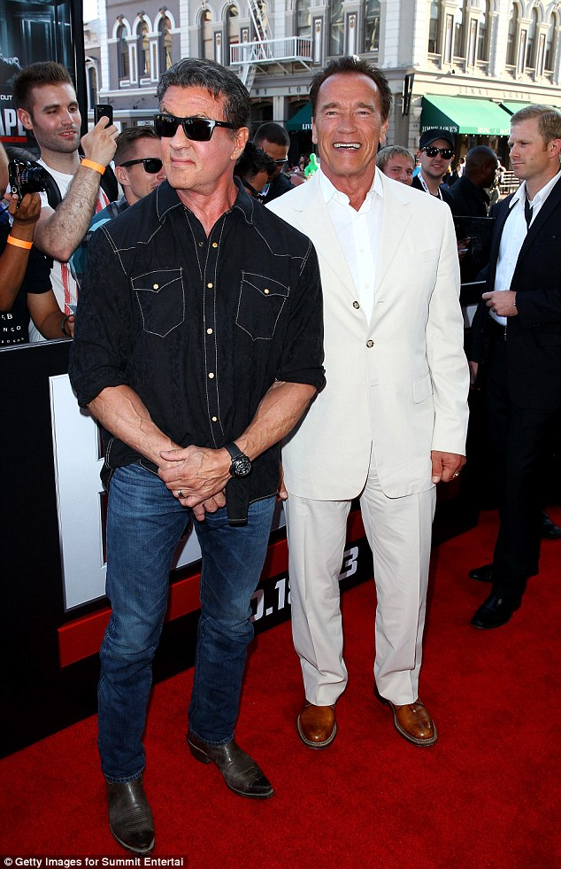 Escape Plan: Sylvester Stallone already looks be eying a way out of his appearance with Arnold Schwarzenegger at Comic Con 2013