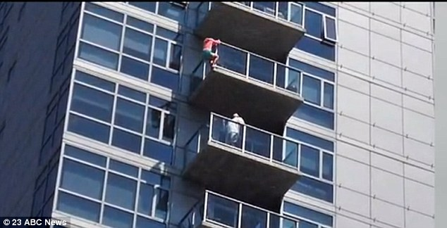 Suicide attempt: An unidentified woman threatened to jump from the 14th floor of a San Diego apartment complex