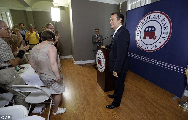 Potential candidate: U.S. Senator Ted Cruz of Texas was in Iowa this weekend for a Republican Party fundraiser, and his presence may indicate that he's eyeing a presidential run in 2016