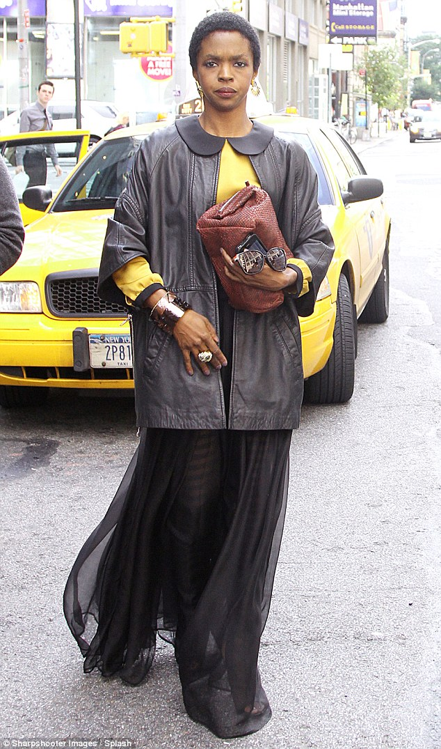 Time to reflect: Lauryn, shown in New York City in September, pleaded guilty to tax evasion and asked for leniencye