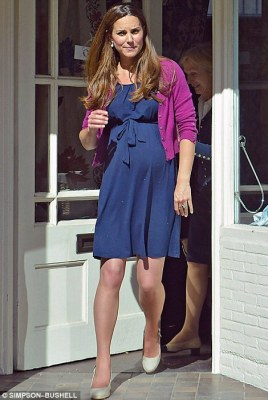Expectant mother: Kate, pictured when she was seen in public for the last time in June, has been admitted to hospital after she went into labour this morning