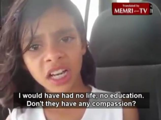 Heartfelt: 'I would have had no life, no education,' she says in the video, dated July 8, and posted on the internet