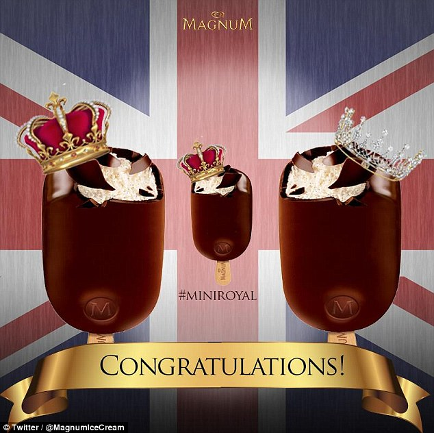 Magnum Ice Cream is fit for royalty and they prove this with their mini royal mockup posted to Twitter for the birth