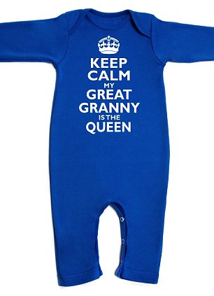 Tacky: Royal baby themed baby grows which have gone on sale for £20 each at littledelivery.com