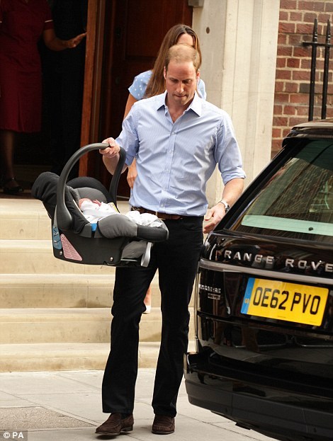 The Duke and Duchess of Cambridge leave the Lindo Wing