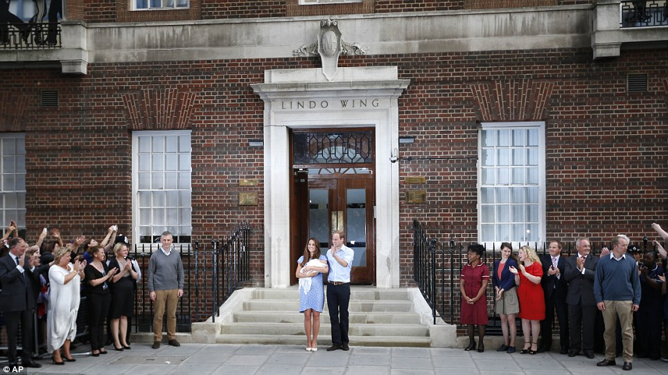 Magic: With the world watching, Kate and William hold their prince outside the Lindo Wing in a genuinely historic moment for Britain