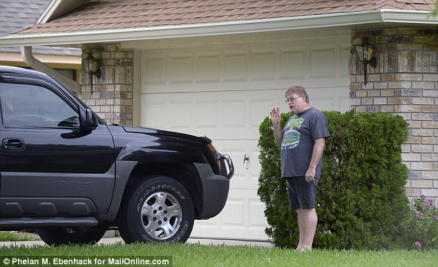 Crash: Zimmerman pulled Mark Gerstles, pictured, his wife Dana Michelle and their two young children from their SUV after it rolled over in Sanford, Florida near the busy I-4 motorway
