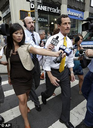 Trying to move the cycle: Weiner maintained that he will continue with his bid to become New York's next mayor