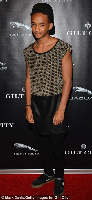 Celeb turn out: Actress Mena Suvari stunned in a cute pink and black frock while Jaden Smith was also on the guest list