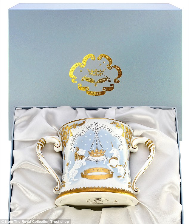Well-wishers looking to celebrate the historic occasion may find themselves priced out of the merchandise range - with the official products costing as much as £195 for this mug