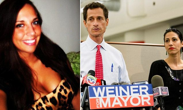 The woman, who goes by the name 'Sydney Leathers' online, was identified just hours after she is believed to have released copies of her explicit conversations with Weiner
