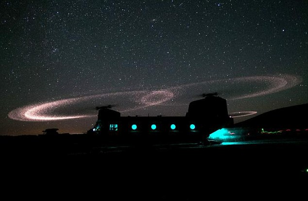Pretty: Until recently, there has been no name for the halo effect that occurs when a helicopter lands in the desert