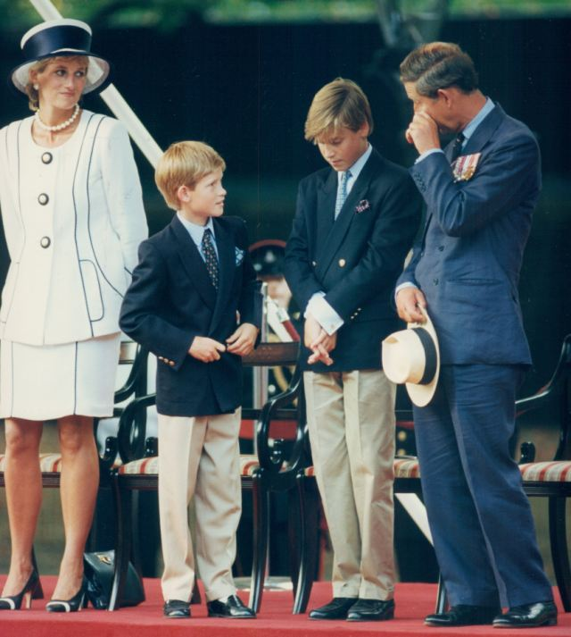 Learning: Through his mother's death, Prince William (second left) has created a relationship with the media on his own terms