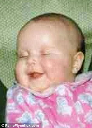 Happier times: Seanie as a baby. She was not diagnosed with the condition until she was 12