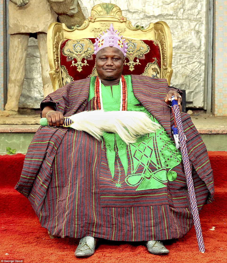 His Royal Majesty Oba Oyetunji Jimoh Olanipekun Larooyell, the Ataoja of Osogbo in southwest Nigeria